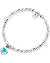Tiffany & Co. - Round Heart Charm Bracelet - Lyst