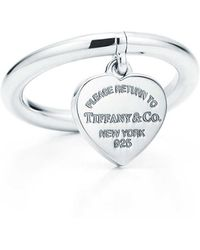 ad44c3bed Tiffany & Co. Heart Tag Ring in Metallic - Lyst