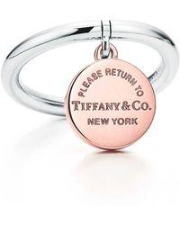 Tiffany & Co. - Circle Tag Ring - Lyst