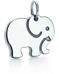 Tiffany & Co. - Tiffany Charms Elephant Never Forgets Charm In Sterling Silver - Lyst