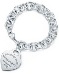Tiffany & Co. - Heart Tag Bracelet - Lyst