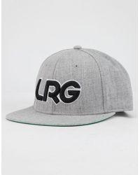 1356ac3f2ae LRG - Interception Gray Mens Snapback Hat - Lyst