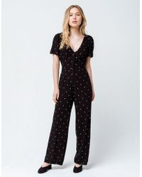 a64dc9e0a8b Amuse Society - On The Bright Side Womens Jumpsuit - Lyst