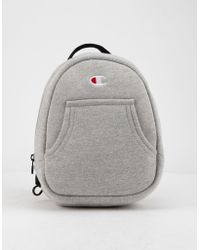 Champion - Reverse Weave Convertible Gray Mini Backpack - Lyst 8f8492a389262