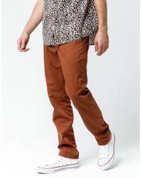 44805816e4b3e Volcom - Frickin Drifter Slim Brown Mens Chino Pants - Lyst