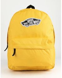 f97e5e60799 Vans - Realm Classic Yolk Yellow Backpack - Lyst