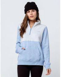 Vans - Glacial Half Zip Womens Sweatshirt - Lyst