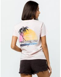 2d13d475d9f Lyst - Talbots Short-sleeve V-neck Nantucket Tee-the Breezy Tee in White
