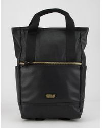 Lyst - adidas Originals Faux-leather Mini-backpack in Black fb21d88e9861a