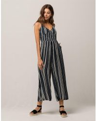 Patrons Of Peace - Stripe Crop Womens Jumpsuit - Lyst