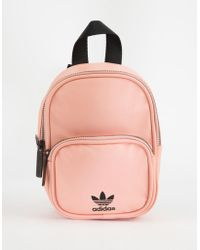 adidas - Originals Faux Leather Pink Mini Backpack - Lyst