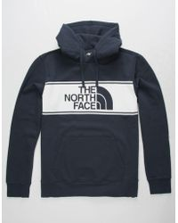 The North Face - Edge To Edge Navy Mens Hoodie - Lyst