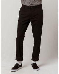 b4135368f31b1 Volcom - Frickin Drifter Slim Black Mens Chino Pants - Lyst