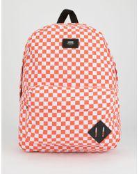 f2d47165fa4 Vans Checkered Backpack in Black for Men - Lyst