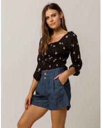 Volcom - Yo Shortie Womens Denim Shorts - Lyst