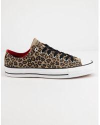 Converse - Chuck Taylor All Star Pro Khaki Black & White Low Top Shoes - Lyst
