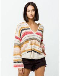 b520676a59 Billabong Baja Beach Sweater (havana Red) Women's Sweater in Red - Lyst