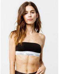 65937c2805b7fe Lyst - Calvin Klein One Shoulder Bralette in Black