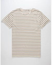 Rhythm | Everyday Stripe Mens Pocket Tee | Lyst
