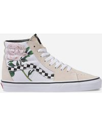 287fba3b5b Lyst - Vans Sk8-hi Checker Floral High Top Sneaker