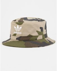 9ed37453720 Lyst - adidas Originals Camo Bucket Hat in Green for Men