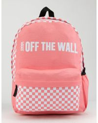 3306767236621c Vans - Central Realm Backpack Women s Backpack In Pink - Lyst