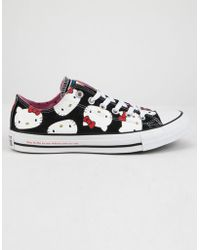 Converse - X Hello Kitty Chuck Taylor All Star Black   Prism Pink Low Top  Womens 4db343c65a