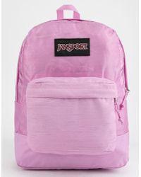 Jansport - Black Label Lavender Orchid Superbreak Backpack - Lyst