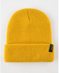 7ecb96a80e5 Lyst - Oliver Spencer Mustard Cable Knit Woolblend Beanie Hat in ...