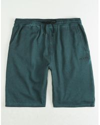 Volcom - Hailmaker Blue Mens Sweat Shorts - Lyst