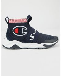 5517ce3623ac0 Champion - Navy Rally Pro Sock Sneakers - Lyst