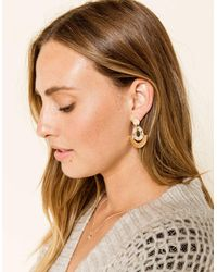 WEST OF MELROSE - Crescent Round Drop Earrings - Lyst