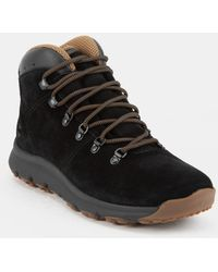 cdeab6b63731 Timberland - World Hiker Mid Mens Black Suede Boots - Lyst