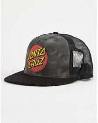 5c5ad7a9208 Santa Cruz - Classic Dot Black Mens Trucker Hat - Lyst
