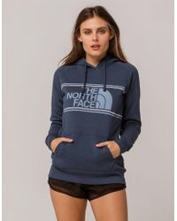 The North Face - Edge To Edge Blue Womens Hoodie - Lyst