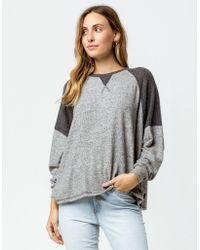 Billabong - Head Start Athletic Heather Womens Sweater - Lyst