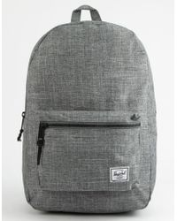 5d1ee3953fe Herschel Supply Co. - Settlement Raven Crosshatch Backpack - Lyst