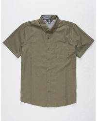 Volcom - Everette Oxford Military Mens Shirt - Lyst