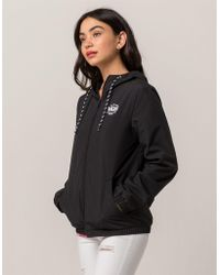 Vans - Kastle Black Womens Windbreaker Jacket - Lyst