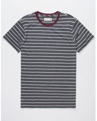 Retrofit - Trip Stripe Heather Black Mens T-shirt - Lyst
