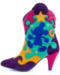 Irregular Choice - Mickey Mouse & Friends Collection Hot Diggety Mint Boot - Lyst