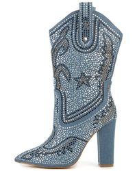 Cape Robbin | Beautiful-15 Denim Boots | Lyst