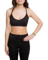 861ec41e10c09 Lyst - Juicy Couture Logo Cross Back Sports Bra in Black