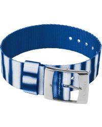 Timex - Watch 20mm Fabric Slip-thru Single Layer Strap Blue - Lyst