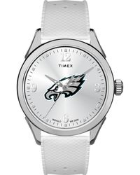 Timex - Watch Athena Philadelphia Eagles Silver-tone/white - Lyst
