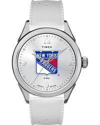 Timex - Watch Athena New York Rangers Silver-tone/white - Lyst