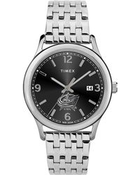 Timex - Watch Sage Columbus Blue Jackets Silver-tone/stainless Steel/black - Lyst