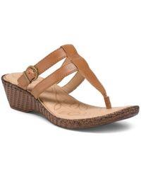 Tj Maxx - Iris Leather Wedge Sandals - Lyst