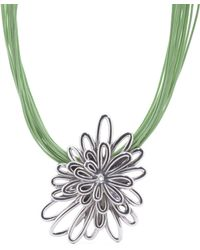 Tj Maxx - Made In Israel Sterling Silver Flower Mint Cord Necklace - Lyst