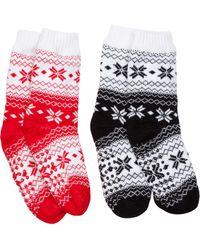 Tj Maxx - 2pk Diamond Snowflake Slipper Socks - Lyst